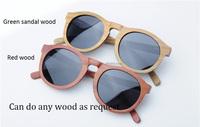 Customized polarized wooden sunglasses Spring hinge Rosewood sunglasses