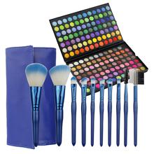 2015 Latest fashion blue makeup pouch best makeup brushes makeup palettes sets