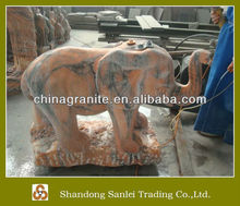 hand carved marble elephants statues