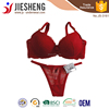 2015 New Arrival Hot Ladies Mature Concise Rose Red Lingerie Fashion Push Up Bra and Panty with Transparent lace