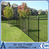 Wholesale two- rail black aluminum fence, cast aluminum fence, anti climb fence