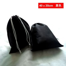 Latest multi-function black cotton drawstring bag wholesale