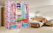 hot sell cheap solid wood simpel foldable wardrobe design