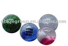 High bounce glitter water ball