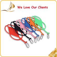 Hot sale long customized mobile phone silicone lanyards in different colors