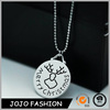 Wholesale cheap promotional gift silver plated metal christmas necklace