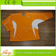 Cheap custom team blank ice hockey clothing sports shirts in back side fight stripe