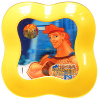High Quality PP 3D Printing cartoon figure plastic charger plate