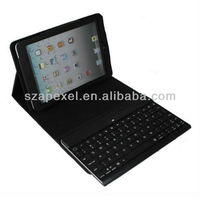 CE FCC Rohs Bluetooth keyboard with Folding leather protective case for iPad mini BK-24