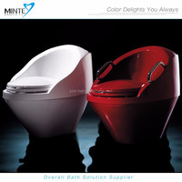 2015 innovative products water-efficient colored toilet for the elderly, plastic portable acrylic toilet