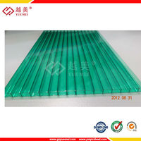 greenhouse sheet roofing plastic double wall/twin wall polycarbonate hollow sheet
