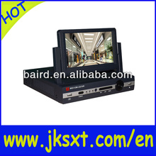 4ch dvr video recorder security with camera & 7inch lcd monitor