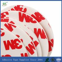 2014 hot sale 49mm circle white self adhesive sticker paper