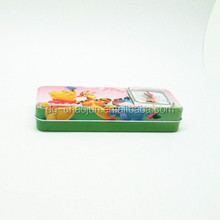 beautiful pencil case tin box with clock on it