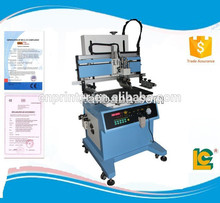 LC-700P Stable running semi- automatic pneumatic flatbed screen printer with T-slot work table for slipper