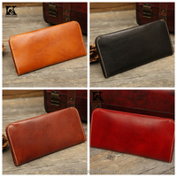 SK-6048 Imported vegetable tanned women leather wallets manufacturer