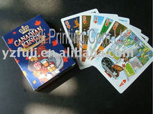 cartoon educational children games paper playing cards memory poker cards