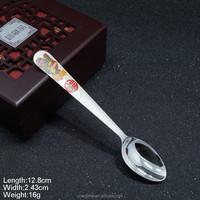 KSA-02 Silver Spoon 999 Pure Silver Spoon Silver Plated Spoon Glazed Pattern