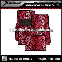 lf The most complete Decorative Leopard Car Mat,Short Plush Car Floor Mats provider