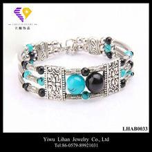 Venta al por mayor más nueva manera de plata tibetano de la pulsera 2013