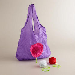 lightweight Rose Foldable Tote Bags/shopping bag