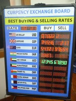 innovative interested led hand writing numbers bank currency exchange rate display board