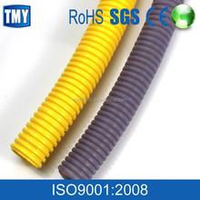Black Corrugated flexible cable conduit pvc