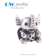 Yiwu 925 Sterling Silver Cute Animals Elephants 925 Silver Wholesale Jewelry Charms