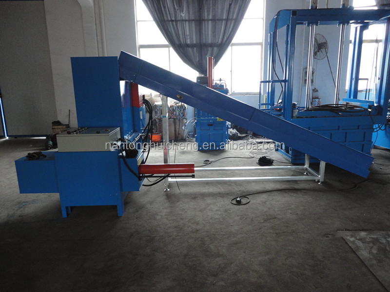 Horizontal Hydraulic rice husk baling machine