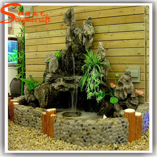China factory wholesale cheap indoor artificial fake for White garden rocks for sale