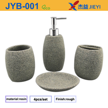 2014 faux stone resin bathroom set,bathroom accessory set