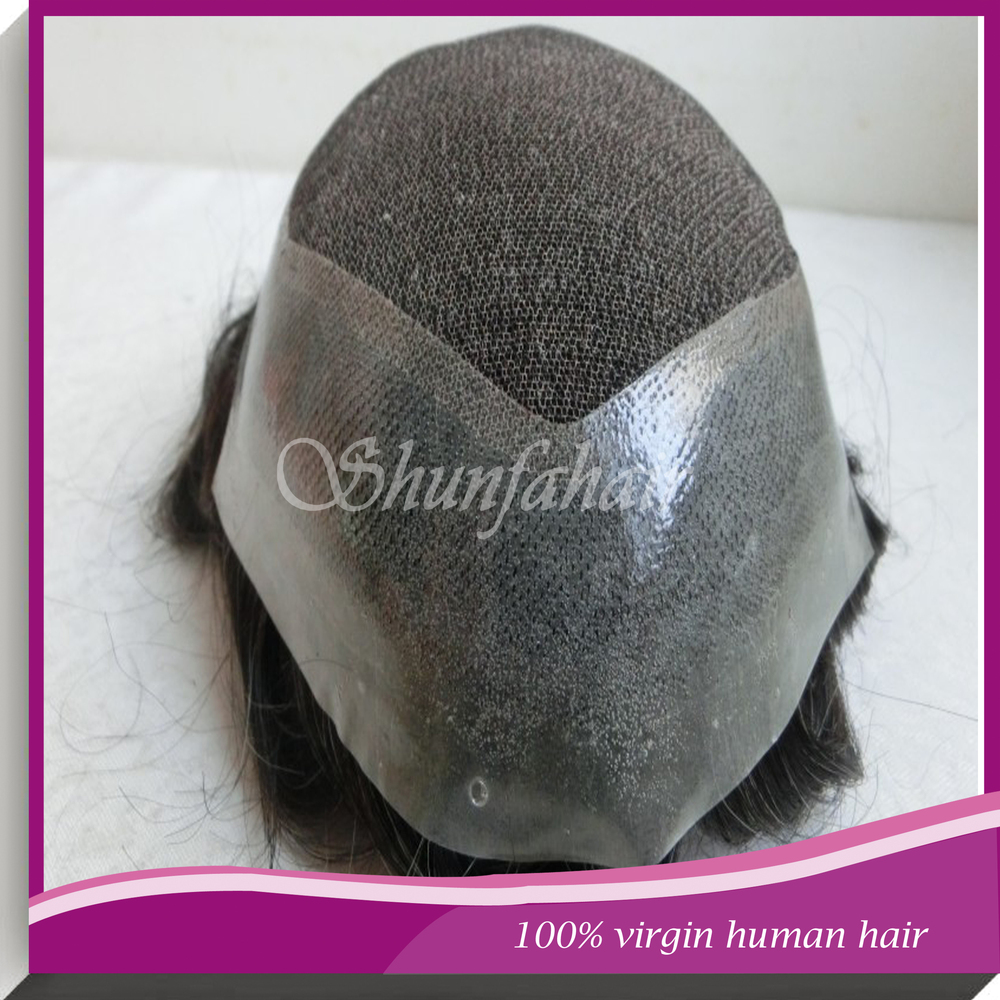 Best sale 100% virgin human hair toupees , French lace /swiss lace with PU around toupees ,natural hair toupees  .jpg