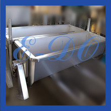 Stainless steel feed trough for pigs/cows/sheep