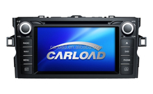 8in Special touch screen 2 din car dvd for toyota corolla 2012 with GPS, iPod, RDS, Analog TV, Mirror link functions