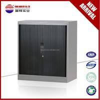 half height metal tambour roller door file cabinet / small filing cabinet