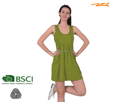 girl's/women's lovely and sexy lively green merino jumper dress/comfortable and casual