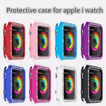 High quality luxury protective case for apple i watch tpu soft case with diamond for i watch