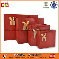 Craft paper shopping bag with logo