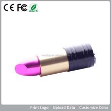 2015 Top Seller Lipstick Flash Usb Memory for Femal , Laser Engraved Usb Disk with Cilent Logo