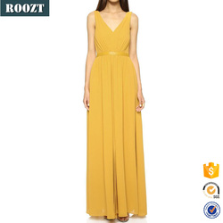 2015 Trendy Woman Yellow Knitted Long Sexy Party Evening Dress