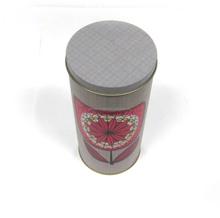 Custom flower packing round tin tea box
