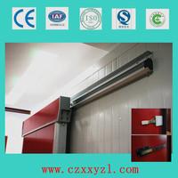 100mm door leaf, 0.5mm stainless steel cold storage room slide door with warmer/heater strip