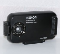 Meikon ultra -rugged Smartphone Waterproof Photo Housing for Samsung S5 , with 32mm fisheye adaptor to connect