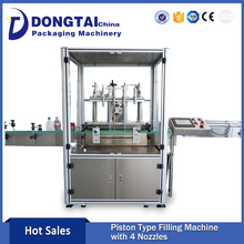 Quality Assurance Four Heads Automatic Peppermint Oil Filling Machine