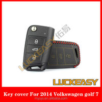Wholesale custom Leather car key cover for 2014 VW Golf 7