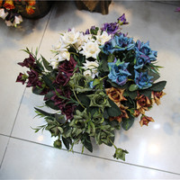 Artificial Crimping Rose for wall wedding flowers home hotels garden decorative