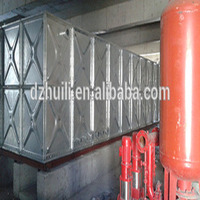 Square galvanized steel water tank in appropriate for exporting products abroad