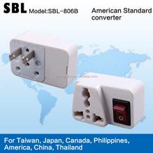 Popular American standard converters,adapter plug,Thailand transform plugs,