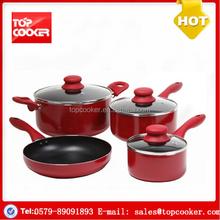 Cookware factory forged aluminium nonstick flower cookware set