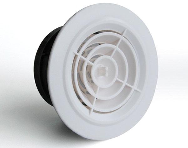 Hvac Plastic Round Ceiling Air Vents Air Diffuser For Air